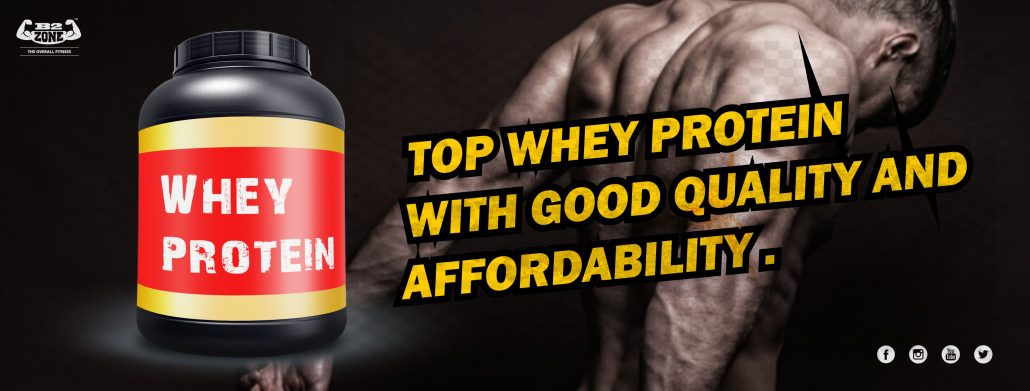 Top Indian whey protein with good quality and affordability. -