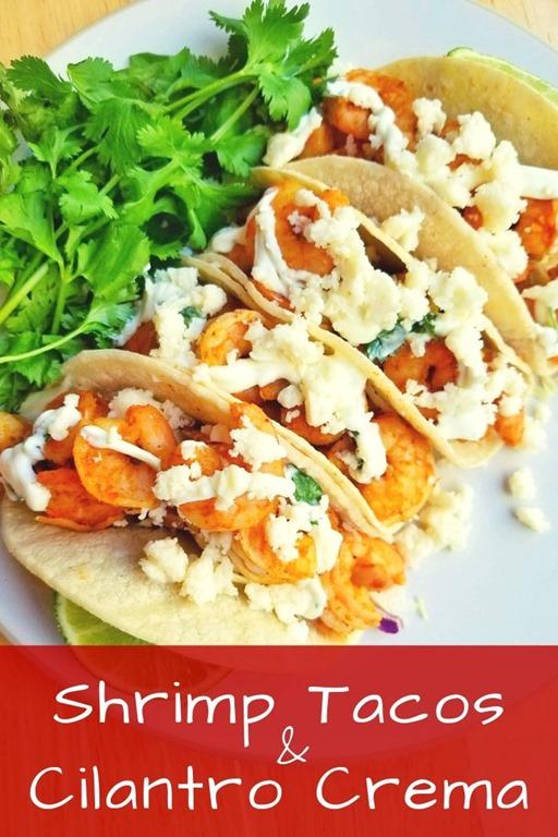 Sheet Pan Shrimp Tacos with Creamy Cilantro Sauce